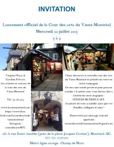INVITATION - Lancement Cour des arts 2015